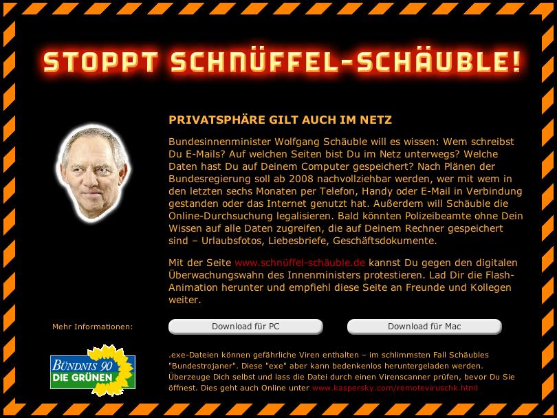 Schnüffel Schäuble