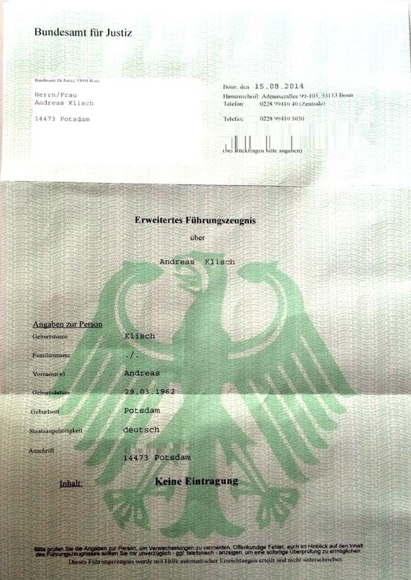 Fuehrungszeugnis
