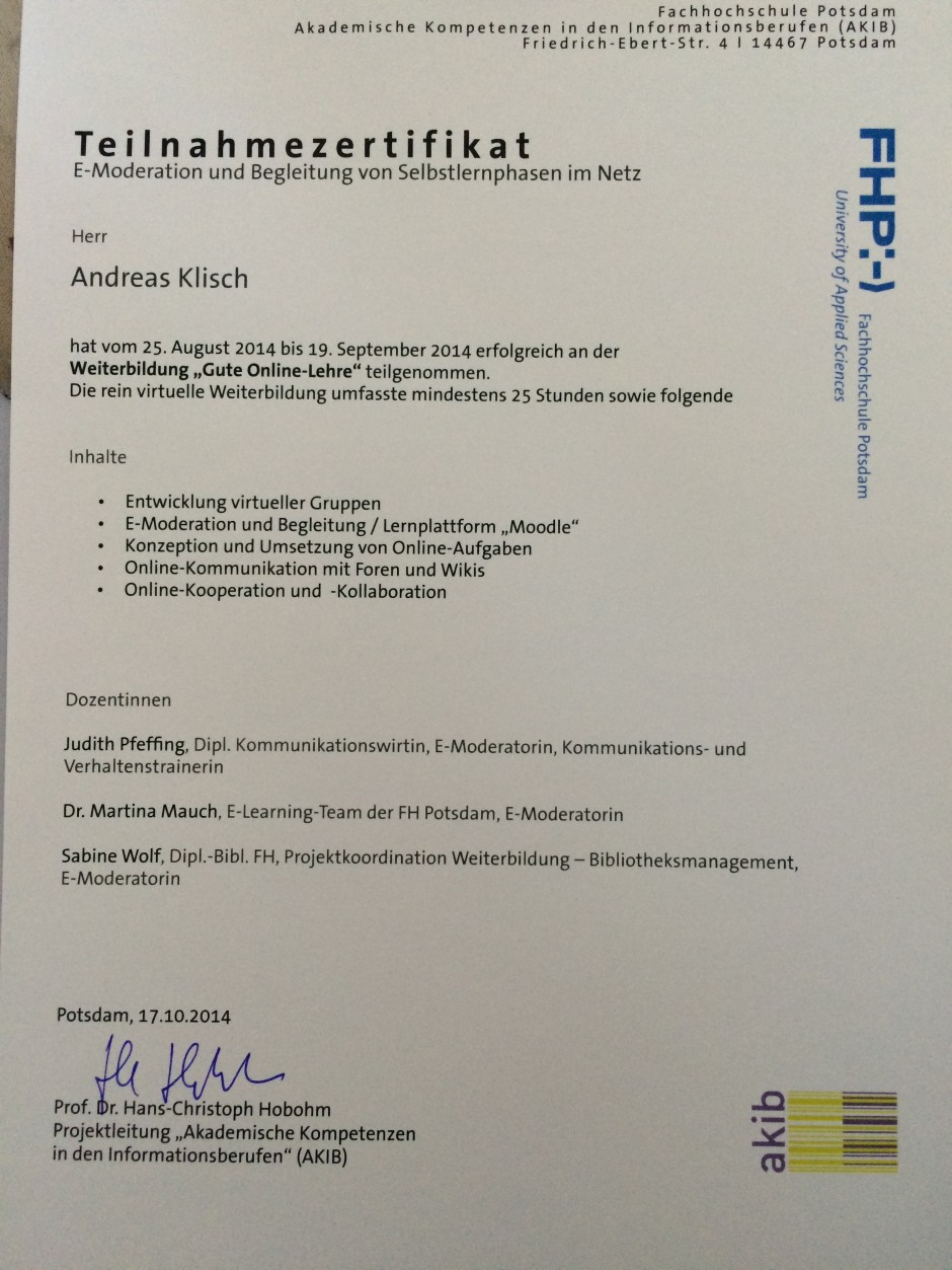 E-learning und moodle